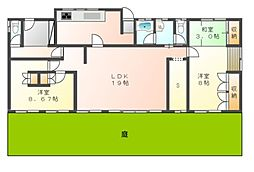 [一戸建] 岡山県岡山市北区上中野2丁目 の賃貸【/】の間取り