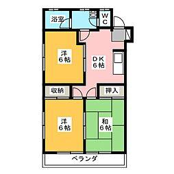 ヒロサワマンション[2階]の間取り