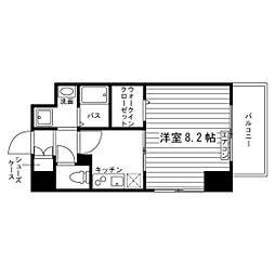 愛知県名古屋市昭和区隼人町の賃貸マンションの間取り