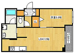 阪急神戸本線 王子公園駅 徒歩13分の賃貸マンション 3階1LDKの間取り