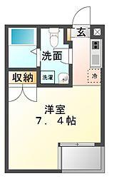ルーム335[4階]の間取り