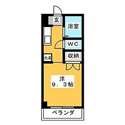 サテライト三共[3階]の間取り