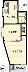 中島ビルIII[304号室]の間取り