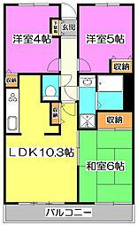 志木南パーク・ホームズ[11階]の間取り