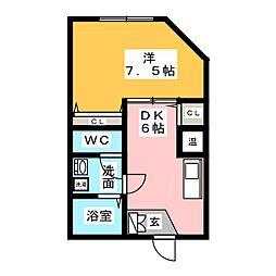 キルシェ桜本町[1階]の間取り
