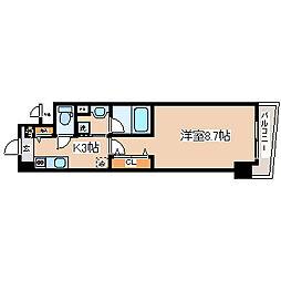 兵庫県神戸市中央区磯辺通1の賃貸マンションの間取り