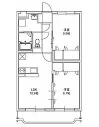 エクレール 3[403号室]の間取り