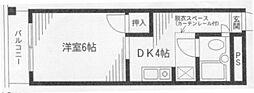 神奈川県横浜市金沢区富岡西7丁目の賃貸マンションの間取り