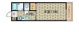 兵庫県神戸市須磨区離宮前町2丁目の賃貸アパートの間取り