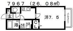 エスポワール[106号室号室]の間取り