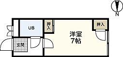 第6ファニー幸[3階]の間取り