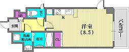 スワンズ新神戸ウィータ[704号室]の間取り