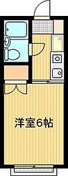 有山ハイツ[105号室]の間取り