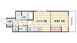 ベラジオ京都鞍馬口[4階]の間取り