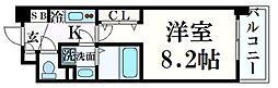 セレニテ心斎橋グランデ 2階1Kの間取り