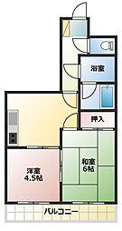 松栄コーポラス[1階]の間取り