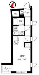 小石川フィエルテ 3階ワンルームの間取り