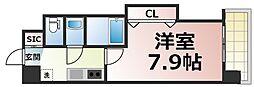 Osaka Metro千日前線 今里駅 徒歩3分の賃貸マンション 10階1Kの間取り
