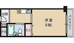 南堀江レヂデンス[404号室]の間取り