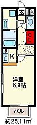 セレピック井尻[2階]の間取り