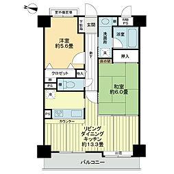 ライオンズマンション朝霞本町[6階]の間取り
