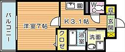 ユニゾンスクエア[4階]の間取り