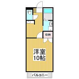 コーポアサマ寿[1階]の間取り