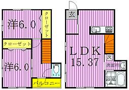 [テラスハウス] 千葉県柏市篠籠田 の賃貸【千葉県 / 柏市】の間取り