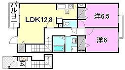 ラ・フィレッジN・S棟[S202 号室号室]の間取り