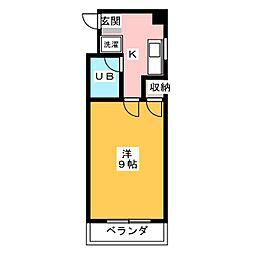 サチクレイドル[3階]の間取り