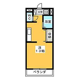 メゾン・サイプレス[1階]の間取り