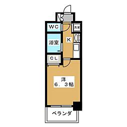 プレサンス京都四条堀川[6階]の間取り