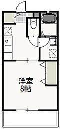 岡山県岡山市北区青江1丁目の賃貸アパートの間取り