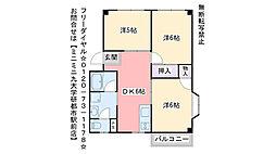 福岡県福岡市西区千里の賃貸アパートの間取り