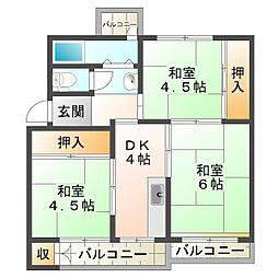 兵庫県神戸市垂水区多聞台3丁目の賃貸アパートの間取り