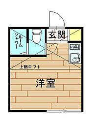 神奈川県川崎市幸区東小倉の賃貸アパートの間取り
