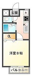 静岡県三島市幸原町1丁目の賃貸アパートの間取り