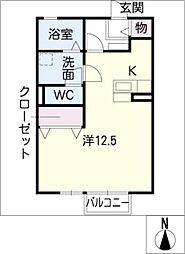 リビングタウン森岡 B棟[2階]の間取り