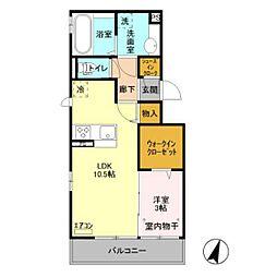 仮)D-room原木[303号室]の間取り