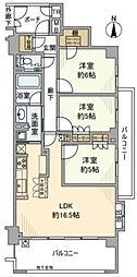 サンクタス横濱ヒルトップVレジデンス[3階]の間取り