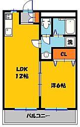 ロワールレジデンス6番館[2階]の間取り