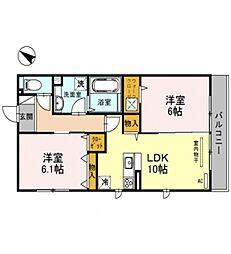 仮)D-room軽里[303号室号室]の間取り