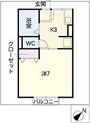 ABCコーポ[1階]の間取り