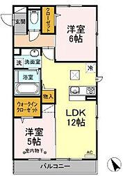 (仮)D−room中央[101号室]の間取り