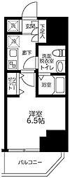 ルフレプレミアム川崎 8階1Kの間取り
