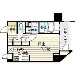 リーガル新福島[6階]の間取り