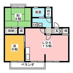 ドミール・シバタC棟[1階]の間取り