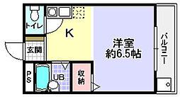 シャンテー長尾家具[5階]の間取り