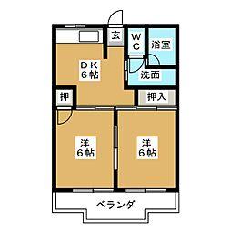 シャインアサイ[3階]の間取り