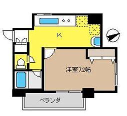 神奈川県茅ヶ崎市十間坂1丁目の賃貸マンションの間取り